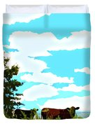 Osage County Cows Duvet Cover