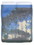 Oscar Monet   Poplars On The Epte Duvet Cover