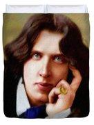 Oscar Wilde, Literary Legend Duvet Cover