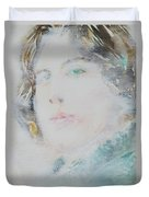 Oscar Wilde - Watercolor Portrait.7 Duvet Cover