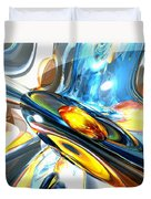 Oscillating Color Abstract Duvet Cover