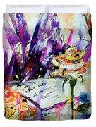 Yellow Rose For Friendship Travel Log 07 Duvet Cover