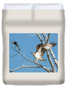 Osprey And Black Billed Magpie Duvet Cover