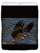 Osprey Catching A Fish Duvet Cover