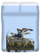 Osprey Family Portrait No. 1 Duvet Cover