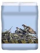 Osprey Family Portrait No. 2 Duvet Cover