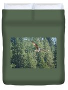 Osprey In Flight 6 Duvet Cover
