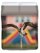 Osprey Salutes The Busch Eagle Duvet Cover