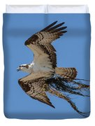 Osprey With Nesting Material 031620161559 Duvet Cover