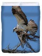Osprey With Nesting Material 031620161567 Duvet Cover
