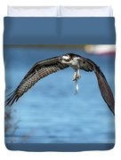 Osprey With Pin Fish Duvet Cover