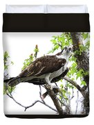 Osprey With Snack Duvet Cover