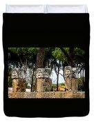 Ostia Antica - Theatre Marble Masks Duvet Cover