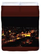 Ostrava At Night Duvet Cover