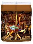 Ostrich Carousel Ride Duvet Cover
