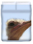 Ostrich Head Close Up Duvet Cover