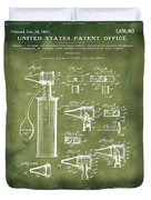 Otoscope Patent 1927 Grunge Duvet Cover