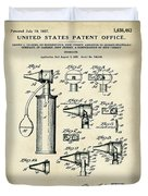 Otoscope Patent 1927 Old Style Duvet Cover