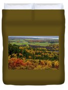 Ottawa River Valley In Fall At Tawadina Lookout At End Of Blanch Duvet Cover