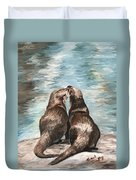 Otter Buddies Duvet Cover