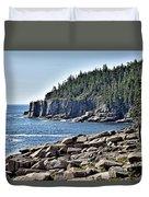 Otter Cliffs In Acadia National Park - Maine Duvet Cover