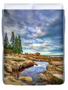 Otter Point Reflections Duvet Cover