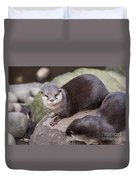 Otters In Arms Duvet Cover