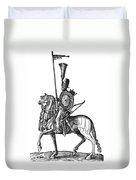 Ottoman Cavalryman, 1576 Duvet Cover