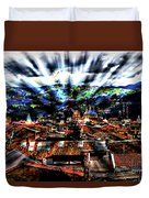 Our City In The Andes Duvet Cover