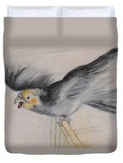 our cockatiel  Coco Duvet Cover