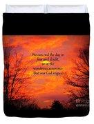 Our God Reigns Duvet Cover