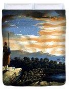 Our Heaven Born Banner Duvet Cover