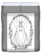 Our Lady Of Grace Duvet Cover