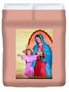 Our Lady Of Guadalupe And Child Duvet Cover