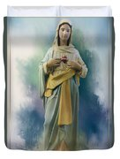 Our Lady Of The Immaculate Heart Duvet Cover