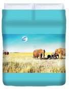 Out In The Serengeti Duvet Cover