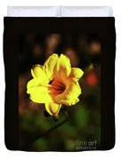 Out Of Darkness Into Light Duvet Cover