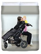 Out Of The Baby Stroller -- A Mother And Daughter Duvet Cover