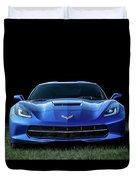 Blue 2013 Corvette Duvet Cover