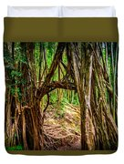 Out Of The Hole And Through The Trees Duvet Cover