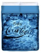 Out Of This World Coca Cola Blues Duvet Cover