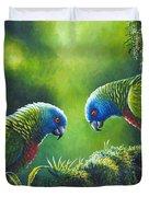 Out On A Limb - St. Lucia Parrots Duvet Cover