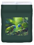 Out On A Limb - St. Lucia Parrots Duvet Cover