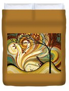 Out West Original Madart Painting Duvet Cover by Megan Duncanson