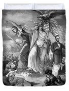 Outbreak Of Rebellion In The United States 1861 Duvet Cover