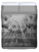 Outburst B And W Duvet Cover