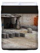 Outdoor Brickyard In Cotacachi Duvet Cover