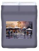 Outdoor Market - Rome Duvet Cover