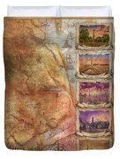 Outer Banks Lighthouse Map 3 Duvet Cover
