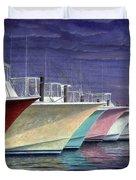 Outer Banks Line-up Duvet Cover